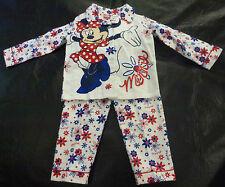 NWT Disney Licensed Minnie Mouse Girls Long Sleeve Winter Pyjamas Size 2