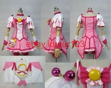 Smile PreCure! Miyuki Hoshizora Cure Cosplay Costume Custom Any Size