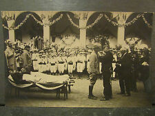 cpa photo guerre 1914 militaire ceremonie hommage blessé remise decoration