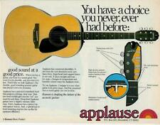 1978 CHOICE YOU NEVER HAD BEFORE APPLAUSE GUITARS AD