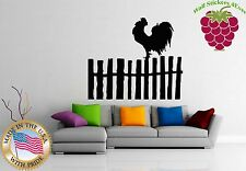 Wall Stickers Vinyl Decal Rooster Country Side Farm ig990