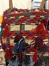 Handmade Antique Egyptian Vintage Camel Saddle bag Wool Rug