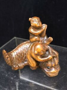 Japanese boxwood Netsuke