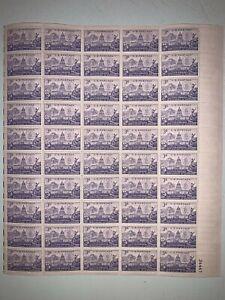 US Stamps SC# 1001 Colorado Statehood 3c sheet of 50 MNH 1951