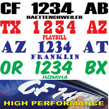 Boat Registration Numbers Lettering Decals Vinyl PWC Lettering 2Sets of stickers