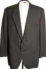 Oxxford Clothes Handmade Mens 46T 46L Brownish Gray Pinstripe Suit Jacket Unline