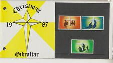 Gibraltar Presentation Pack 1987 CHRISTMAS SG 585-587