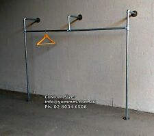 Rustic Industrial Pipe Retail Shop Commercial Display Garment Clothes Rack WR21