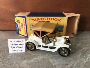 MATCHBOX LESNEY YESTERYEAR Y4-3 OPEL COUPE ISSUE 2* DIFFICULT *NMIB*