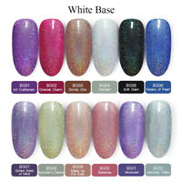 BORN PRETTY 6ml Holographics Soak Off Gel Polish Silver Glitter Nail Art Varnish