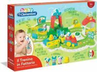 Baby clementoni il trenino in fattoria:motorizzato,parlante,interattivo