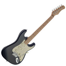"""NEW Stagg 39"""" Full Size SES50M ST Style Standard Electric Guitar - Black"""