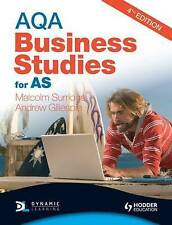 AQA Business Studies for AS by Andrew Gillespie, Malcolm Surridge (Paperback, 2…