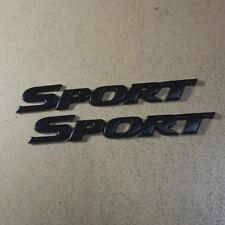 2PCS Matte Black SPORT Metal Emblem Sticker Badge 3D Decal High Auto Limited suv