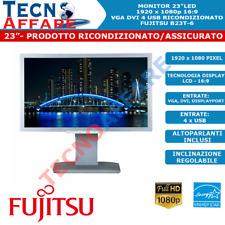 """Monitor LED 23"""" 16:9 1080P VGA DVI-D USB DisplayPort Ricondizionato Fujitsu"""