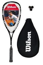 Wilson Hyper Hammer Carbon 120 PH Black Squash Racket + 3 Squash Balls RRP £160