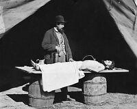 Civil War Embalming Surgeon at work on Soldier's Body c1863  8x10 Photo