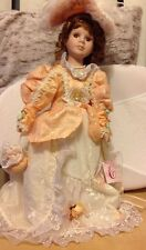 """Crimson Collection Fine Porcelain Doll 18"""" from J A Designs Collectors Item Gift"""