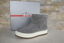 Prada talla 39,5 botines plataforma botas zapatos piel de oveja kiesgrau nuevo PVP 490 €