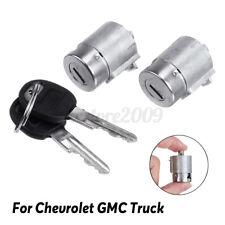 2Pcs Lockcraft Door Lock Cylinder W/ 2 Keys Kit For Chevrolet GMC Truck Cadillac