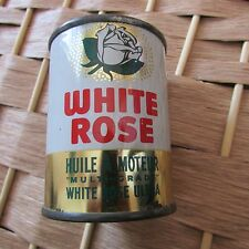 White Rose Ultra Multi-Grade Vintage Motor Oil Can Bank Canadian