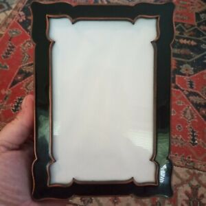 "Vintage ornate copper with black enamel picture frame,  6x4"" photo size"