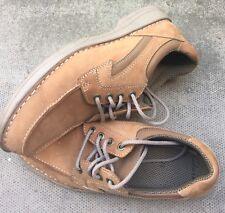 CLARKS Mens Tan Nubuck Lacing Shoes 7 1/2