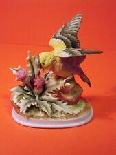 Vintage Andrea By Sadek Goldfinch Bird Figurine #7703. Collectible