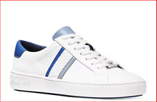 🔥Michael Kors Women's Irving Striped Lace Up Sneaker in Vintage Blue & White🔥