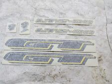 GT DECALS LTS DH BLACK YELLOW MOUNTAIN BIKE MTB BICYCLE STICKERS NOS