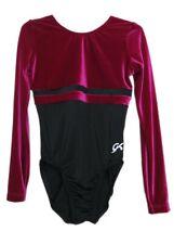 Gk Elite Berry Velvet/Black Gymnastics Leotard - As Adult Small 3954