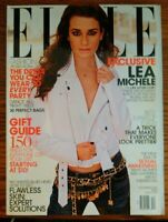 Lea Michele Elle Magazine December 2013 No. 340 Hearst Magazines Glee