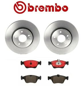 For Mercedes R170 W202 W210 C230 Set of Front Disc Brake Rotors and Ceramic Pads