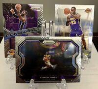2020-21 Panini Prizm Lebron James Tribute Flashback & Dominance Lot 3 LA Lakers
