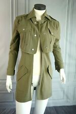 Guess Trench Mid length Jacket Military Army Green Shadowhunters Izzy Sz XS