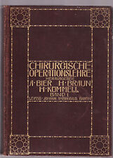 CHIRURGISCHE OPERATIONSLEHRE : BAND I - BIER et al  German surgical text 1914
