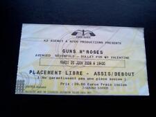 Guns n Roses ticket Paris Bercy 20/06/06 Bullet for my Valentine