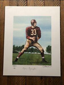 Sammy Baugh Signed 16x20 Litho - Redskins JSA Certified! HoF! Serial #erd Rare!