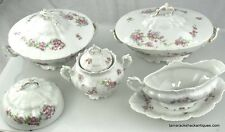 VTG (12) Piece Habsburg China Serving Set Made in Austria with Floral Pattern