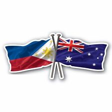 Australian & Philippines flag 7 year water & fade proof vinyl oz pride support