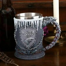 More details for game of thrones tankard  officially licensed house stark winter is coming 16cm