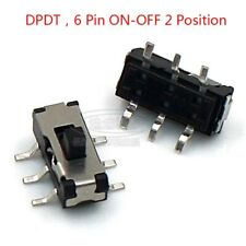 Micro Slide Switch Dpdt 2p2t 6 Pin On Off 2 Position Dvd Panel Mount Smd Switch
