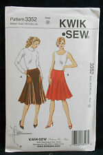 KwikSew Pattern #3352 Misses Skirts w/Flared Shaped Panels (XS-S-M-XL) Uncut