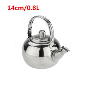 Coffee Pot with Tea Leaf Infuser Filter Stainless Steel Teapot0.8/1.6/1.8/2.3lL