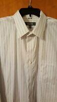 Men's KENNETH COLE REACTION Long Sleeve Dress Shirt XL Non-Iron 100% cotton