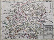 1732 Herman Moll Mapa The South East Part of Germany Map Trento Bolzano Austria