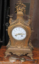 Gorgeous Antique French Bronze Shelf Mantle Clock JAPY FRERES 19 Century France