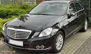 Chrom Stoßstange Ecken Zierleisten Leisten für Mercedes W212 S212 E-Klasse