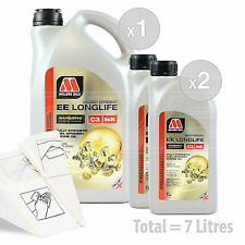 Car Engine Oil Service Kit / Pack 7 LITRES Millers NANODRIVE EE 5w-30 C3 7L