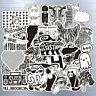 52 Pcs/Lot Rock Stickers Band Music Guitar RHCP Guns N For Skateboard Luggage